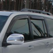 Дефлекторы дверей (ветровики) для Toyota Prado 120 (2003 - 2008)