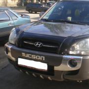 Накладка на передний бампер (губа) для Hyundai Tucson (2004 - 2014)