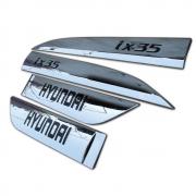 Хром на молдинги дверей для Hyundai IX35 (2009 - 2015)