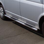 Боковые пороги (трубы) для Volkswagen Transporter T5 (2004 - 2009)
