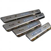 Накладки на пороги в салон для Ford Focus (2005 - 2010)