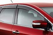 Ветровики c хромированным кантом для Mazda CX-7 (2006 - 2012)