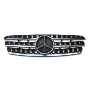 Решетка радиатора (черная) для Mercedes ML W163 (1998 - 2005)