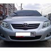 Передние фары (хром) для Toyota Corolla (2007 - 2012)