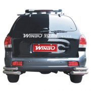 Углы бампера (двойные) для Hyundai Santa Fe (2002 - 2005)
