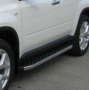 Боковые пороги для Nissan X-Trail (2007 - 2014)