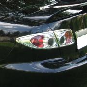 Хром задних фонарей для Mazda 6 (2002 - 2007)