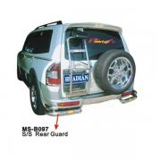 Углы бампера (двойные) для Mitsubishi Pajero 3 (2000 - 2006)