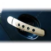 Хром на ручки дверей (с отверстиями) для Skoda Super B-5 (2001 - 2007)