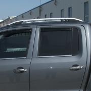 Рейлинги (серебристые) для Volkswagen Amarok (2010 - ...)