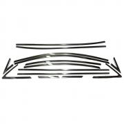 Накладки на нижние и верхние молдинги окон для Hyundai Accent (2011 - ...)