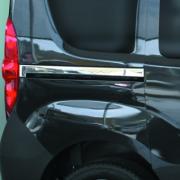 Хром молдинг под сдвижную дверь для Fiat Doblo (2010 - ...)