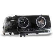 Передние фары черные для Toyota Land Cruiser 80 (90 - 97)