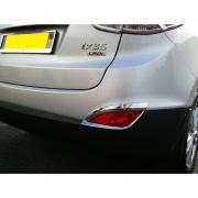 Накладки на задние противотуманки для Hyundai IX35 (2009 - 2015)