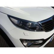 Хром передних фар для Kia Sportage III (2010 - 2015)