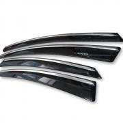 Ветровики с хромом для Hyundai Sonata YF (2011 - 2014)