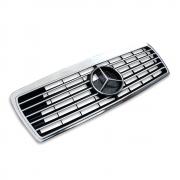 Решетка радиатора с рамкой (Sport line) для Mercedes W210 (1995 - 2002)