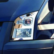 Хром на передние фары для Ford Transit (2006 - 2012)