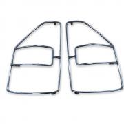 Защита задних фонарей для Mitsubishi Pajero 3 (2000 - 2006)