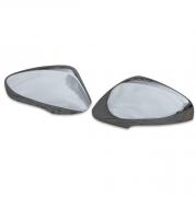 Хром на зеркала (с вырезом под повторители) для Hyundai Accent (2011 - ...)