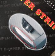 Хром на углы накладки переднего бампера для Toyota Prado 120 (2003 - 2008)