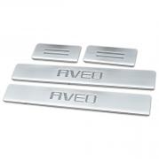 Накладки на пороги для Chevrolet Aveo (2011 - ...)