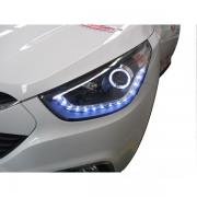 Передние фары (темные) для Hyundai IX35 (2009 - 2015)