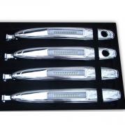 Хром на ручки дверей (с подсветкой) для Toyota Highlander (2007 - 2014)
