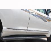 Молдинги дверей с хромовым кантом для Toyota Prado 150 (2018 - ... )