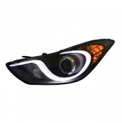 Фары передние (линза, темные) для Hyundai Elantra (2011 - 2014)