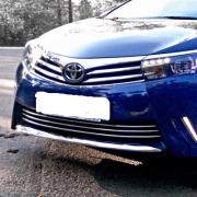 Хром на передний и задний бампер для Toyota Corolla (2013 - ...)