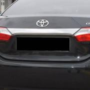 Хром планка над номером для Toyota Corolla (2013 - ...)