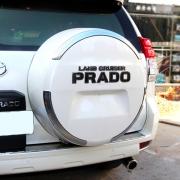 Хром на чехол запасного колеса для Toyota Prado 150 (2009 - 2017)