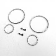 Хром кольца в панель приборов для BMW X5 E53 (1999 - 2006)