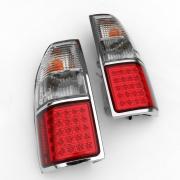 Задние диодные фонари (светлые) для Toyota Prado 90 (1996 - 2002)