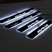Накладки на пороги (неон) для Toyota RAV4 (2006 - 2012)