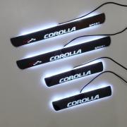 Накладки на пороги (неон) для Toyota Corolla (2013 - ...)