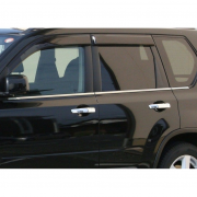 Нижние молдинги окон для Nissan X-Trail (2007 - 2014)