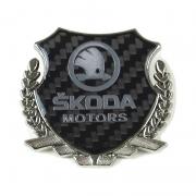 Эмблема герб карбон для Skoda Kodiaq (2016 - ...)