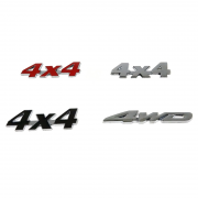 3D эмблема 4x4, 4WD для Toyota Land Cruiser 200 (2007 - 2015)