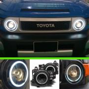 Передние фары (темные) для Toyota FJ Cruiser (2006 - ...)