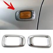 Хромированные накладки на повторители поворотов для Toyota Land Cruiser 100 (98 - 2006)