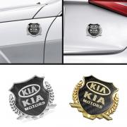 Эмблема герб карбон для Kia Sportage II (2005 - 2009)