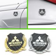 Эмблема герб карбон для Mitsubishi Pajero 4 (2007 - ...)
