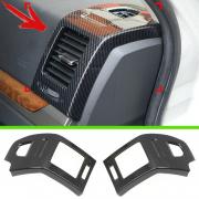 Накладки карбон на боковые обдувы для Mitsubishi Pajero 4 (2007 - ...)