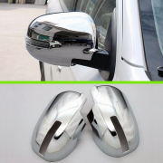 Хром на зеркала 2015+ с вырезами под повторители для Mitsubishi ASX (2010 - ...)