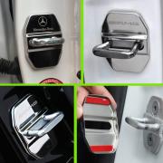 Накладки хром на петли замков дверей для Mercedes W221 (2007 - ...)