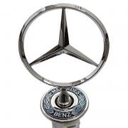 Эмблема капота на ножке с логотипом и гербом для Mercedes W202 (1993 - 2000)