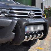 Кенгурятник низкий полиуретан для Toyota Hilux (2015 - ...)