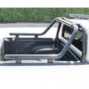 Дуга в багажник черная Ролл-Бар для Toyota Hilux (2006 - 2015)